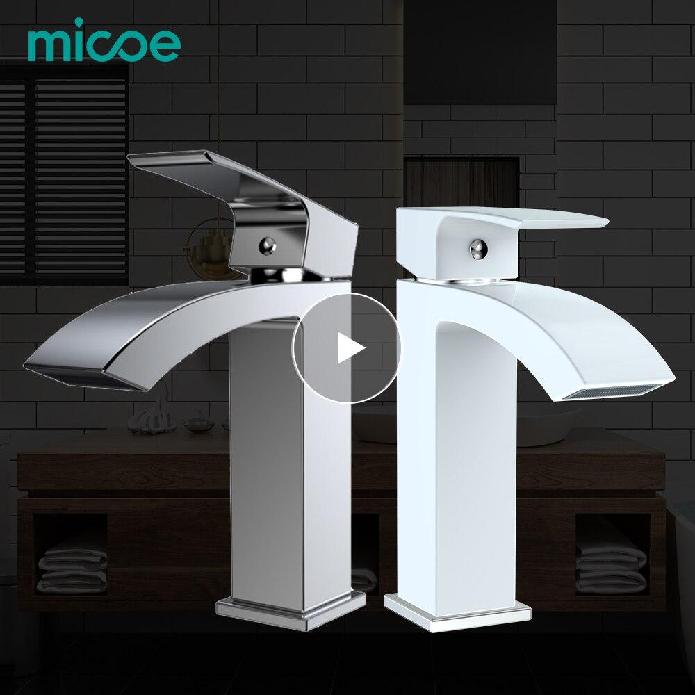 Robinet de lavabo Micoe robinet de salle de bain monotrou robinet de baignoire en céramique robinet chaud et froid