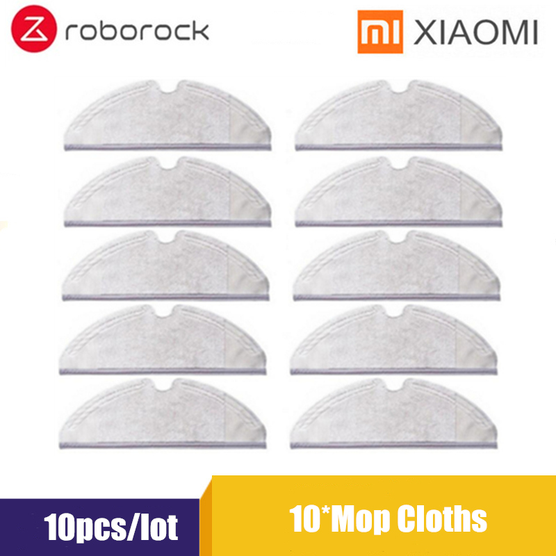 10pcs Xiaomi Roborock S50 S51 Parts Mop Cloths For Xiaomi Vacuum Cleaner Accessories Generation 2 Dry Wet Mopping Cleaning