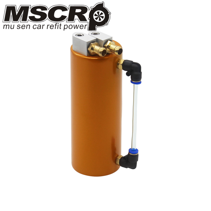 Универсальный алюминиевый гоночный маслоуловитель БАК/может круглый резервуар турбо маслоуловитель/может ловить бак