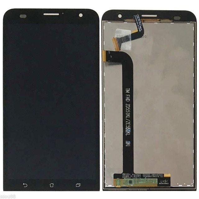 Black LCD Display Glass Touch Screen Digitizer Assembly For Asus ZenFone 2 Laser ZE551KL NEW