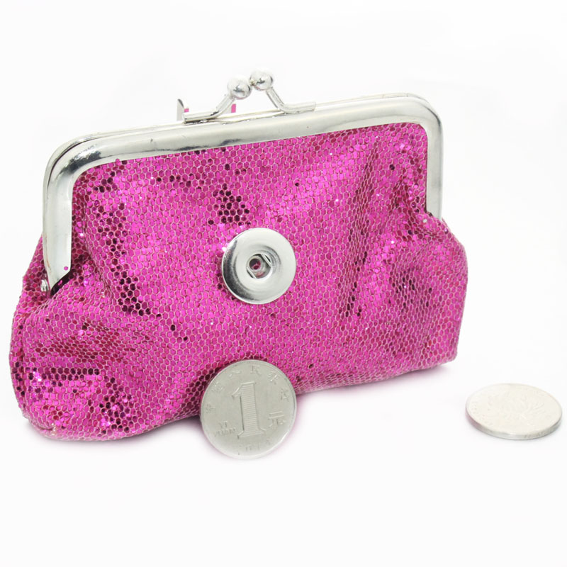 1 button PU leather 18mm metal Snap Buttons bag Coin Purse DIY Snaps women's fashion jewelry A Dual-use