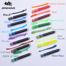 Jinhao 5pcs color calligraphy blue ink cartridge refill pen caliber 26mm smooth writing student painting stationery