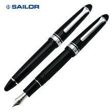 סיילור כתיבה טורפדו 14K עט זהב, שחור כסף כתיבה, עסקים גמיש עט, דיו עט 11 1029 ציור ולמידה מתנה