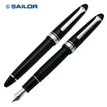 SAILOR Pluma de escritura, bolígrafo de tinta 11 1029 Torpedo 14K, flexible, para negocios, color plateado y negro, regalo para dibujar y aprender
