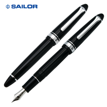 SAILOR Writing Torpedo 14K Golden Pen, Black Silver Writing, Business Flexible Pen, Ink Pen 11 1029 Drawing and Learning Gift