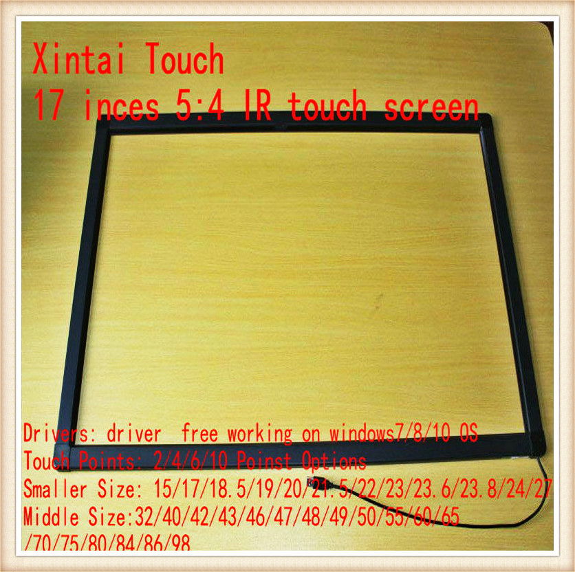 and Best Price! 17 Inch IR Multi Touch Screen Panel/Touch Screen Frame 2 Touch Points for touch table, kiosk touch and feel dinosaur touch