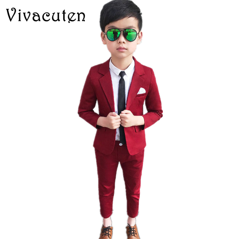 Clothing-Set Blazer Party-Wear Gentleman School-Performance Boys Pants Formal-Suits Kids