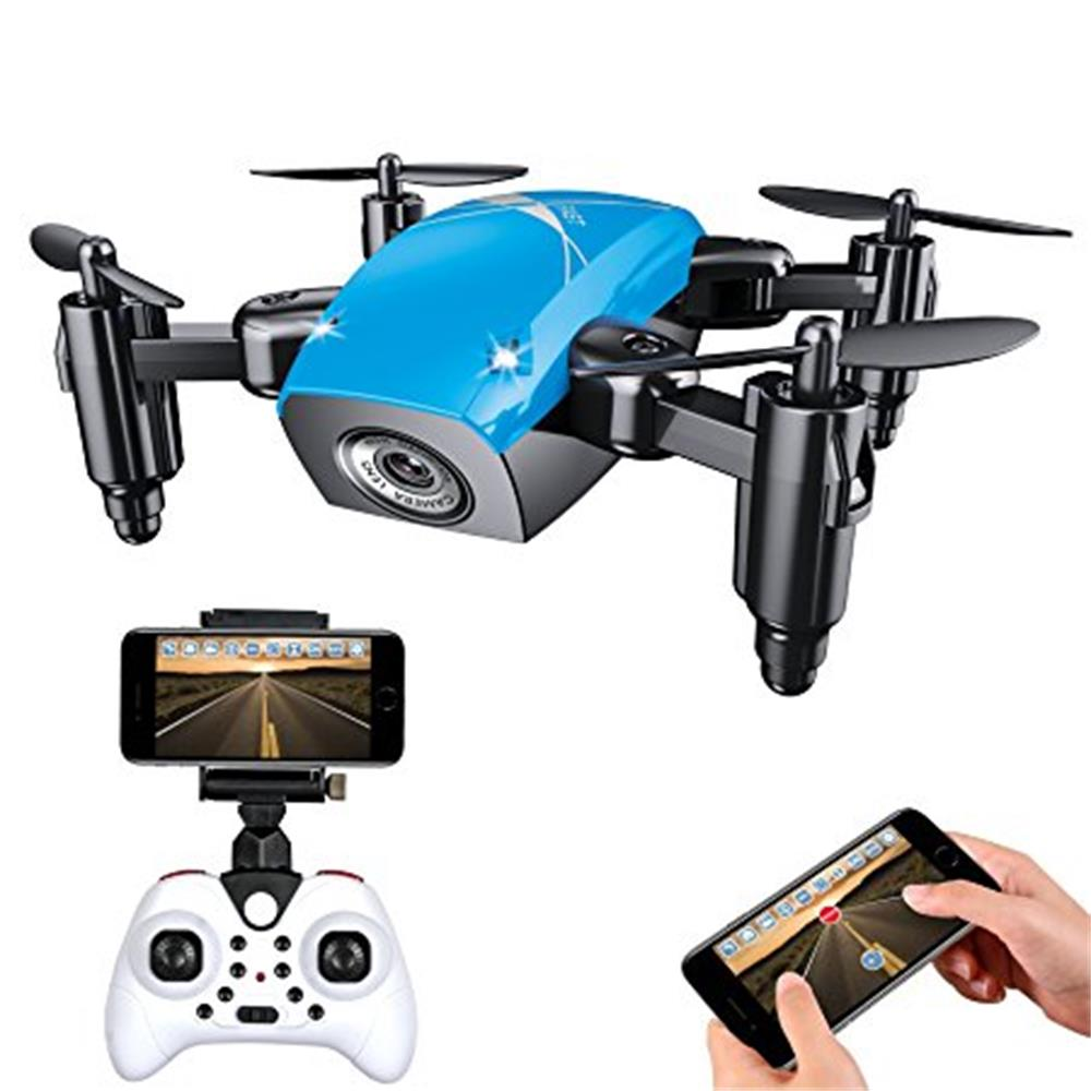 S9 RC Mini Foldable Drone 2.4G 4CH 6-Axis Gyro RTF Quadcopter Headless Mode One-Key Return UFO Mini Drones as Christmas Gift
