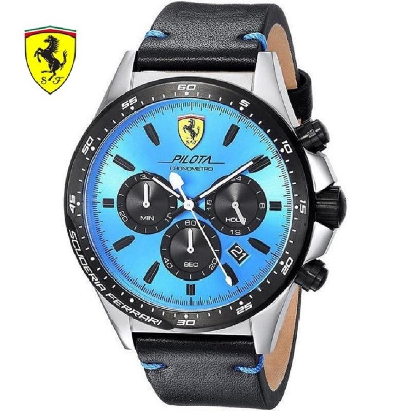 Здесь можно купить  SCUDERIA FERRARI Brands 2018 New Ferrari Men Fashion Casual Hardlex Top Brand Scuderia PILOTAQuartz Watches Herrenuhren 0830388  Часы