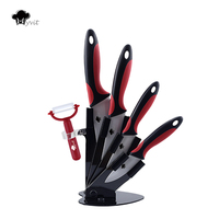 Myvit Brand 2015 New Arrival 3 4 5 6 Peeler Knife Holder Ceramic Knife Set White