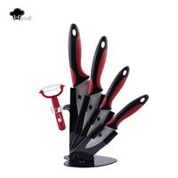 Myvit Brand 2015 New Arrival 3 4 5 6 Peeler Knife Holder Ceramic Knife Set White