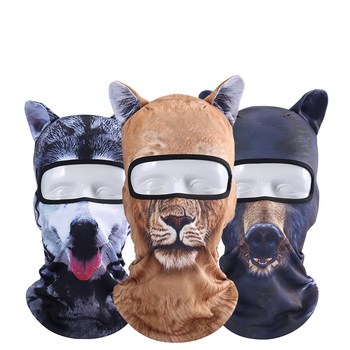 Animal Ear Balaclava Motorcycle Face Masks Bicycle skiing riding Scarf Head wear Outdoor Warmer Helmet Hood Party fun mask