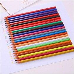 24 kolorowe kredki do malowania lapis de kor aquarela szkic kolor zestaw kredek kolorowanki dla dzieci ołówki artykuły szkolne do plastyki w Standardowe ołówki od Artykuły biurowe i szkolne na
