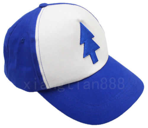 Wellcomics Anime Gravity Falls Dipper Pines Blue Pine Tree Baseball Cap Adjustable Cartoon Sunbonnet Hat Cosplay Costume Outdoor