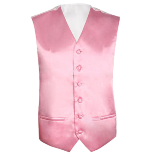 Mens Wedding Waistcoat Groom (Pink 3XL/UK 46)