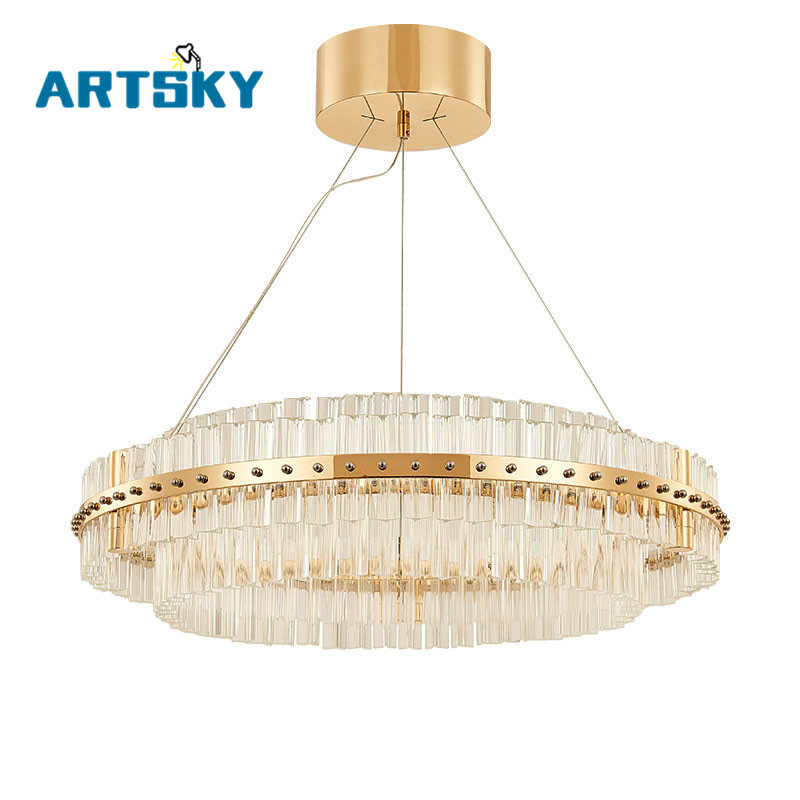Art Deco LED Crystal Pendant Light for Hotel Hall Dining Room Parlor Pendant Lamp Chrome/Gold Restaurant and Pub Hanging Lamp original oem vacuum cleaner air filter hepa efficient filter washable repeated use vacuum cleaner parts fc8028 60 62 64