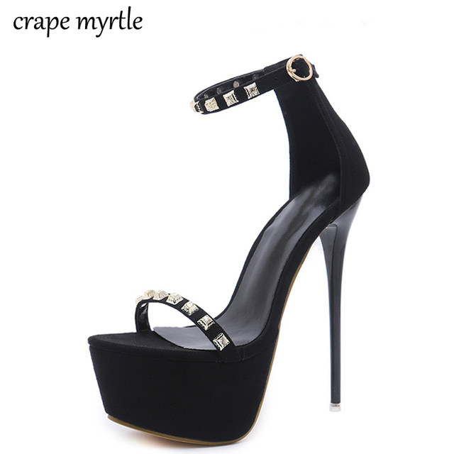 e53ac5ff7d stripper shoes women summer sandals sexy pumps high heel shoes studded  sandals women heels party Shoes strappy sandals YMA265