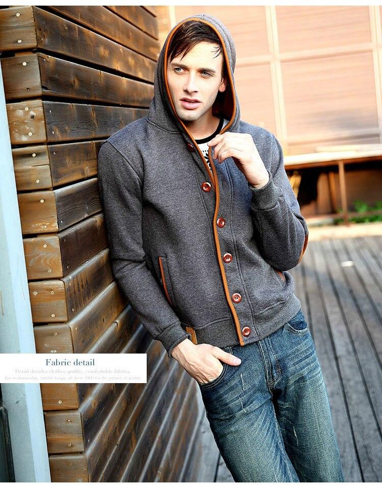 Mwxsd marca para hombre otoño sudaderas con capucha para hombres - Ropa de hombre - foto 4