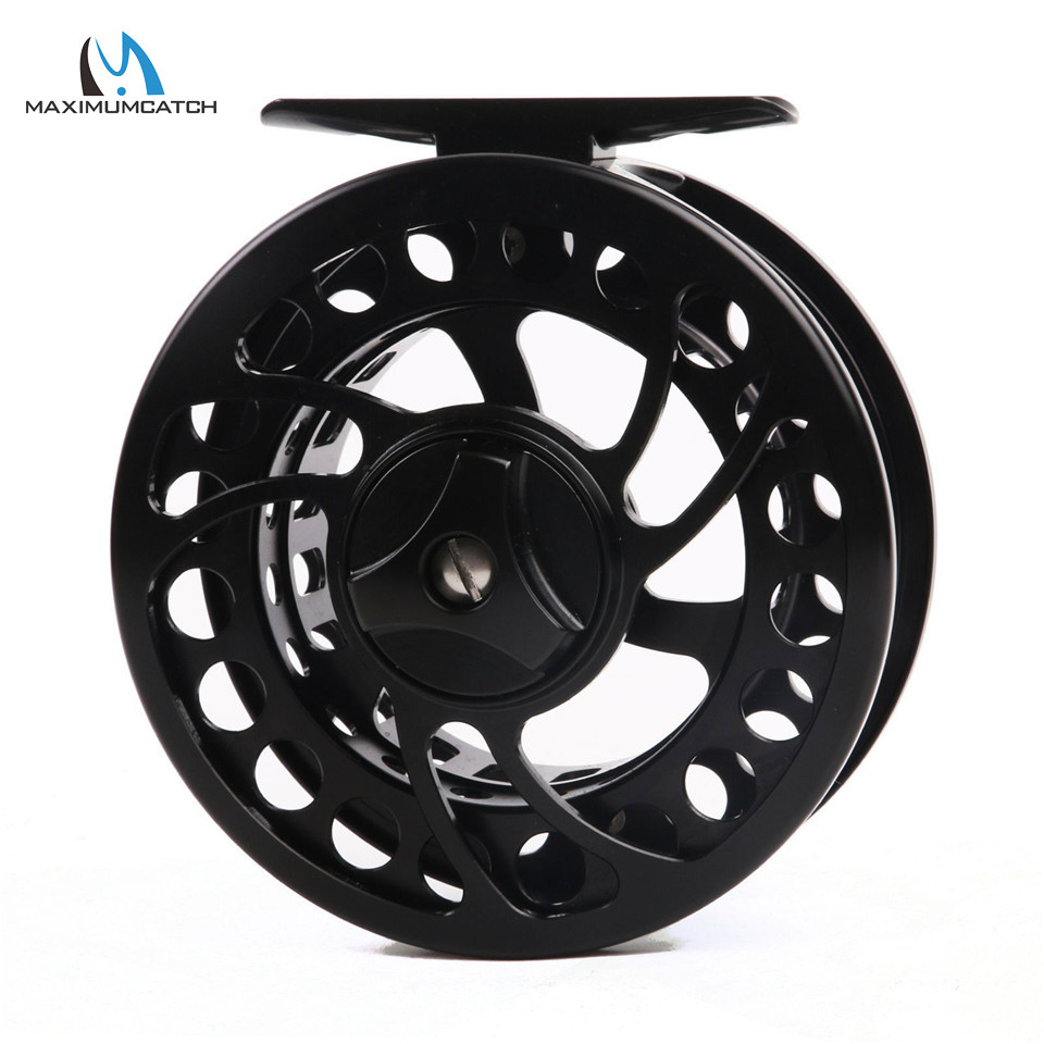 Maximumcatch ML 3-9wt Mid-large arbor Fly Fishing Reel CNC Machine Cut Aluminum Black Fly Reel maximumcatch hvc 7 8 weight exclusive super light fly reel chinese cnc fly fishing reel large arbor aluminum fly reel