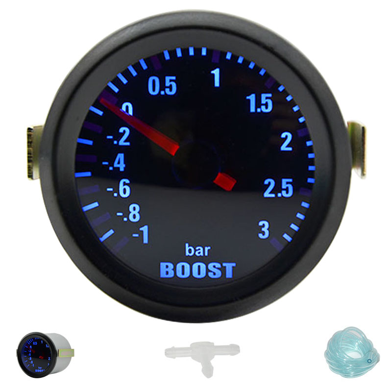 2 52MM Universal Turbo Boost Car Gauge 3.0 BAR Meter Auto Blue LED2 52MM Universal Turbo Boost Car Gauge 3.0 BAR Meter Auto Blue LED