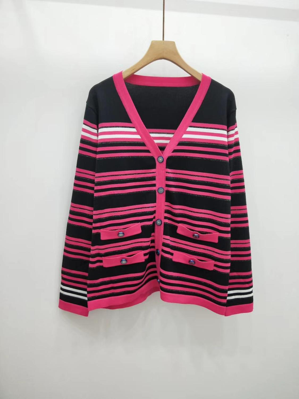 2019 가을 겨울 walla era 여성 스웨터 캐주얼 스트라이프 여성용 스웨터 컬러 블랙과 핑크 femme 스웨터 2 색-에서가디건부터 여성 의류 의  그룹 1