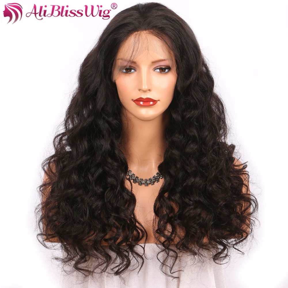Brazilian 13x4 Loose Curly Lace Front Human Hair Wigs Pre Plucked Deep Wave Lace Front Wigs 360 Lace Frontal Wigs Black Women