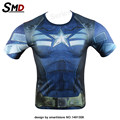 2016 Men Casual Comics Avengers Costume Marvel's Captain America Civil War T-shirt Men  Jersey Tops Fitness  Tee