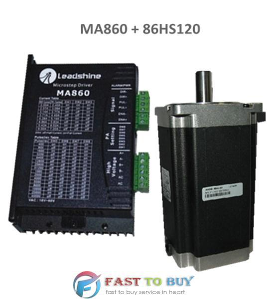 2-phase Stepper Drive and Motor MA860 + 86HS120 12N.m New rc2604h stepper motor drive 578 586