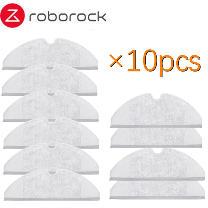 10pcs/lot Mop Cloths Pads Washable Cloth Mopping Pad for Xiaomi Generation 2 Roborock Vacuum Cleaner Spare Parts washable reusable replacement microfiber mopping cloth for haier robot vacuum cleaner t520 mop cloths 350 202mm