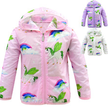 2019 new children's sun protection clothing unicorn casual girl air conditioning shirt girl sunscreen jacket hoodie wholesale 300pcs lot 2017 spring g air conditioning sunscreen back letter jacket for child girl