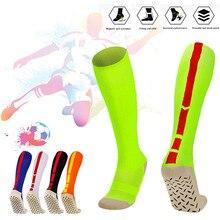 Мужские футбольные носки для взрослых, нескользящая спортивная футбольная длинная обувь, Зимние гетры для женщин, утепленные хлопковые спортивные носки, Chaussette