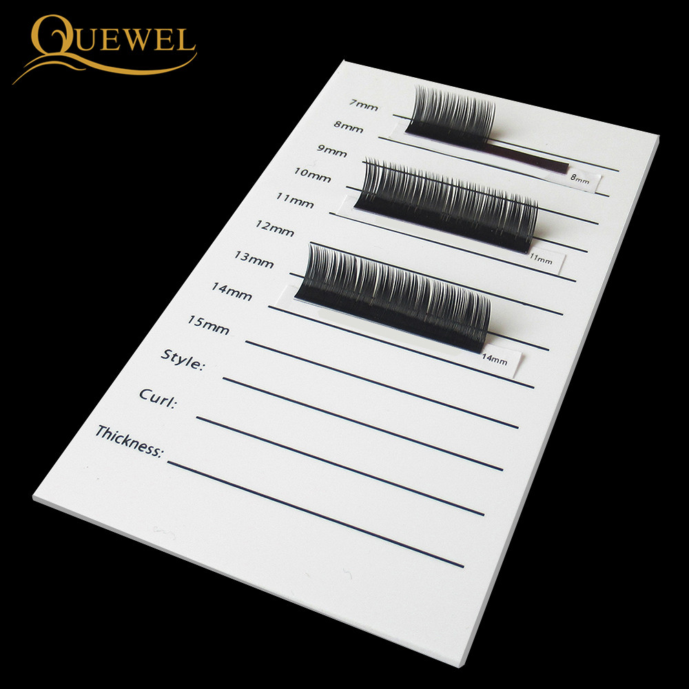 Image 3 - Eyelash Acrylic Lash Pallet Individual Eyelash Tile Palette Adhesive Glue Ceramic 5 Pieces Holder New Eyelash Extensions Tools-in False Eyelashes from Beauty & Health