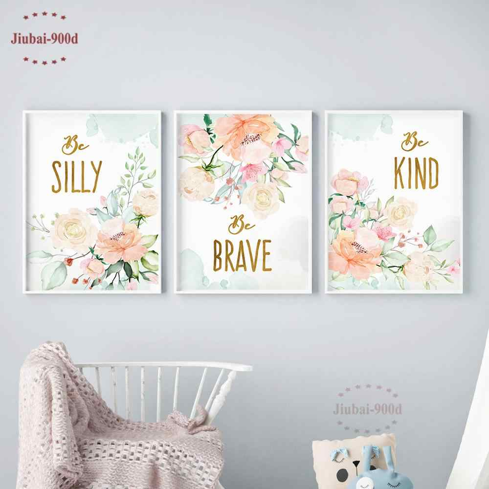 900d Flowers Poster Baby Room Wall
