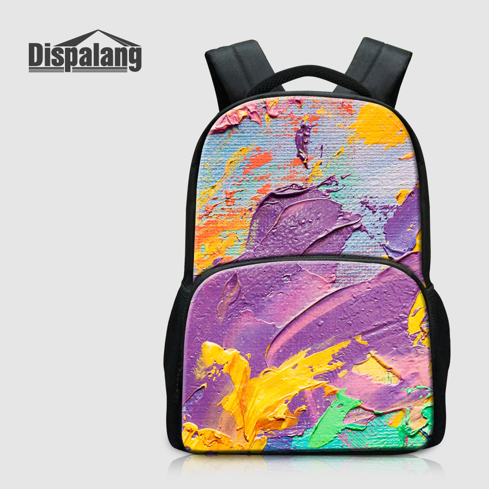 Dispalang 17 Inch Large Capacity School Backpack For Children Canvas School Bags For Women Pattern Mochila Feminina Bagpack Pack dispalang custom design gorilla owl school backpacks for college students 17 inch felt backpack large capacity men school bags