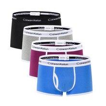 CaiwenKelun Shorts Mens 4Pcs\lot Underwear Soft Boxers Cotton Boxer Men  Lot M L XL XXL