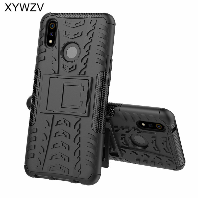 Image 2 - OPPO Realme 3 Pro Case Shockproof Cover Armor Soft PU Silicone Hard PC Phone Case For OPPO Realme 3 Pro Back Cover Realme X Lite-in Fitted Cases from Cellphones & Telecommunications