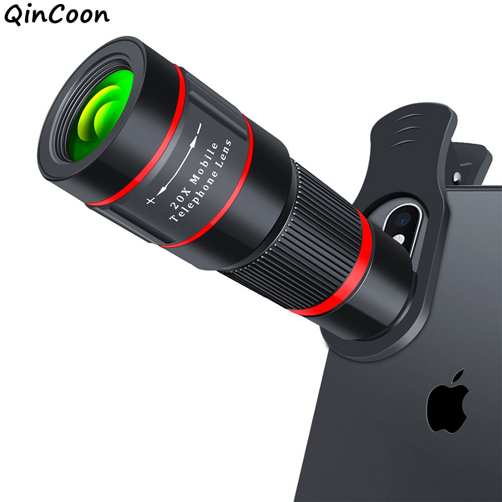 20X Zoom Telephoto Lens HD Monocular Telescope Phone Camera Lens for iPhone 11 Xs Max XR X 8 7 Plus Android Smartphone Mobile title=