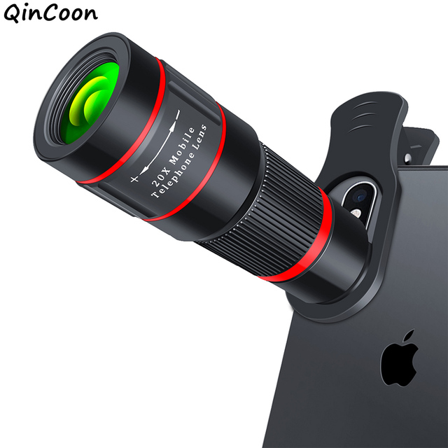 20X Zoom Ống Kính Chụp Ảnh 4 K HD Kính Thiên Văn Một Mắt Điện Thoại Ống Kính Máy Ảnh cho iPhone XS Max XR X 8 7 plus Điện Thoại Thông Minh Samsung Di Động