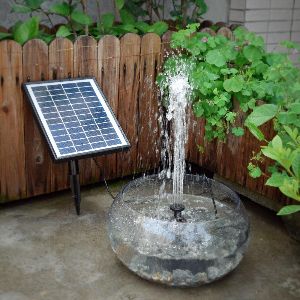 12 v 5 w di Energia solare Pompa ad Acqua Senza Spazzola Built-In Batteria di Stoccaggio Sommergibile di Telecomando LED Pompa Fontana di acqua per Stagno