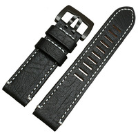 23mm Brown Top Grade Men S Genuine Leather Watch Band Starps Bracelets High Brushed Stainless Steel