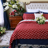 Brief American Red Four Piece Set Bed Cotton 100 Cotton 1 8m Bed Double Long Staple