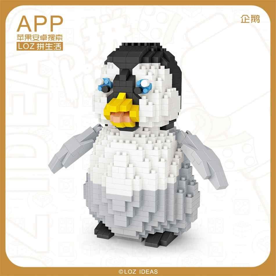 Blocos de Diamante LOZ De Plástico Bonito Pinguim Brinquedos Educativos para Crianças Animal Dos Desenhos Animados Anime Figura de Ação Modelo de Montagem DIY 9792