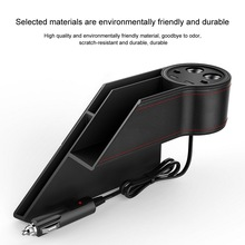 Car Seat Gap Storage Box Double Point Smoke Hole USB Charger Device Multi-function Large Capacity