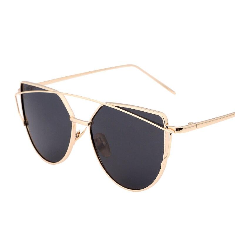 Moda Olho de Gato óculos de Sol Das Mulheres Designer De Marca Twin-Vigas de 1a3b274a66