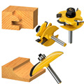 3pcs 1/4 Round Rail&Stile Router Bits Set Cove Raised Panel Tools Wood Cutting High Quality Wooden CNC endmill