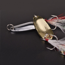 Free shipping fishing spoon lure metal lure silver/gold 8g 12g spoon bait hard lure cheap fishing lure China fishing tackle
