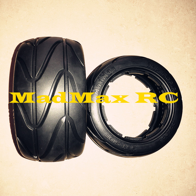 MADMAX rear tire tyre slick for baja 5b HPI KM Rovan 1 5 rc car racing