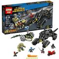 NEW LEPIN 07037 758Pcs Avenger Superheroes Batman Killer Croc Sewer Smash Model Building Kits Blocks With 76055