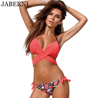 JABERNI Bikini Brand New Sexy Swimwear Women Push Up Swimsuit Cross Brazilian Bottom Beach Wear Bathing