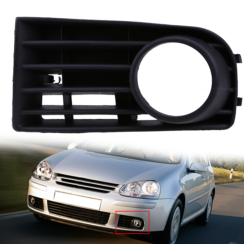 Car Accessory Left/Right Side Car Front Lower Bumper Grilles Fog Light Grills Cover Fit For VW Golf MK5 2004-2009